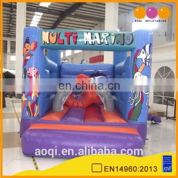 2015 new design undersea world theme small inflatable bouncer for kids