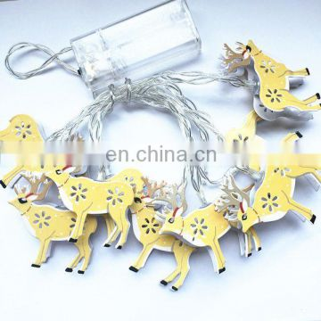 10 LED Christmas deer decoration lamp ,Battery Operated String Lights,Christmas home decoration