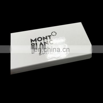 Famous brand luxury style glossy custom white packaging box