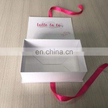 Luxury beauty women small office bag packagings paper box with custom company name