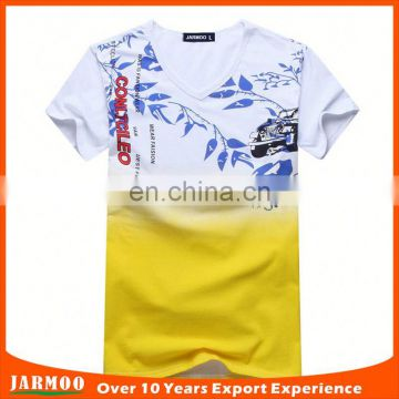 Free design yellow comfortable custom design cotton t-shirt