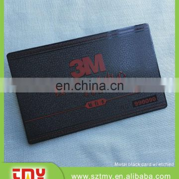 customized smart card Stainless steel smart card metal black smart card