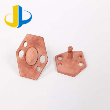 Bending Gold Plated  Metal Stamping Parts Bronze