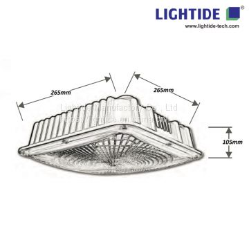 Surface Mounted Canopy LED Lights 80W, 100-277vac,ETL/CETL listed, 5 yrs warranty