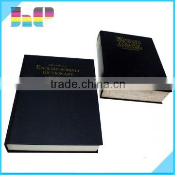 Cheap elegant leather cover dictionary book printing service