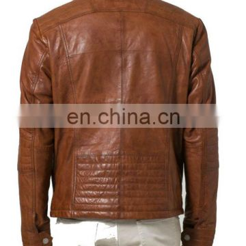 Decorative stitching on the shoulder, elbow, hip and side leather jackets