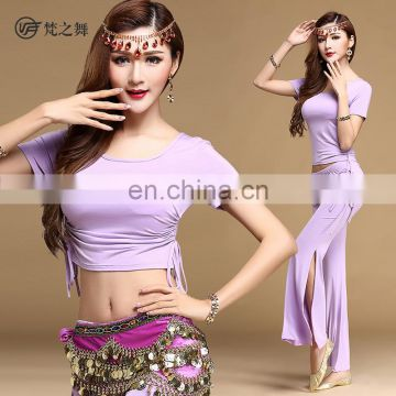T-5115 Modal summer short sleeve practice belly dance costume