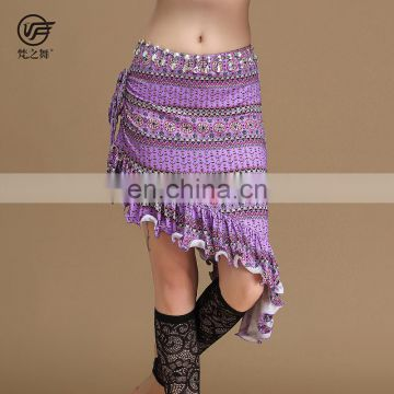 Q-6063 Egyptian pattern printed belly dance skirt costume
