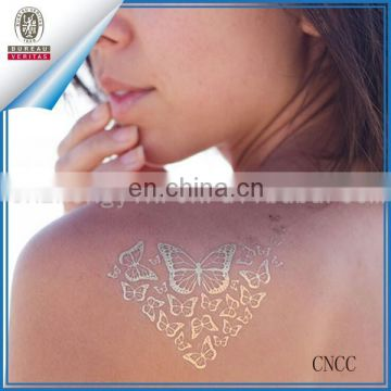 New Metallic Tattoo Temporary Tattoos Bling Flash Craft Sticker