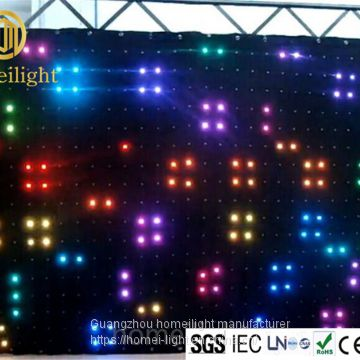 p10cm vison cloth led video curtain for bar stage