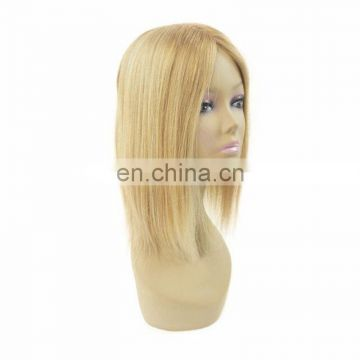 New arrival top quality blonde color silk top closure for european women human hair silk topper