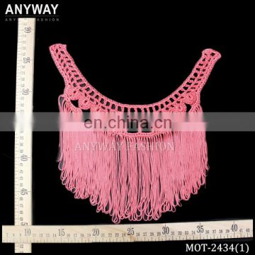 high quality custom braided neckline fringe