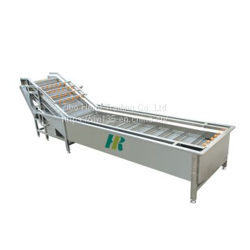 Bubble type vegetable washing cleaning machine