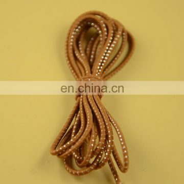 stock 2mm round elastic cord with shiny silver