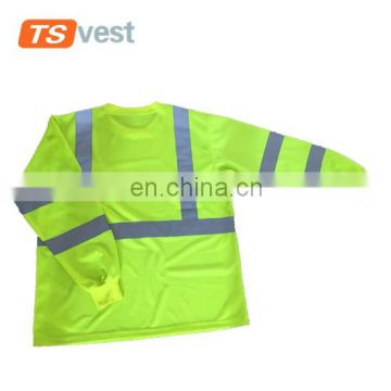 Whole Reflective Security Hi Vis Safety long sleeve T-Shirt