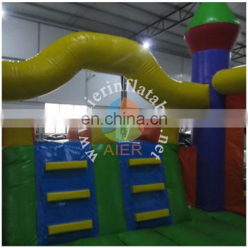 2016 Aier inflatable castle with slide/inflatable bouncer/inflatable obstacle course for sale