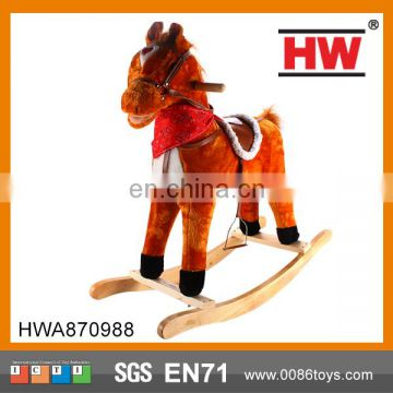 2015 Hot Selling good quality wooden rocking horse toy