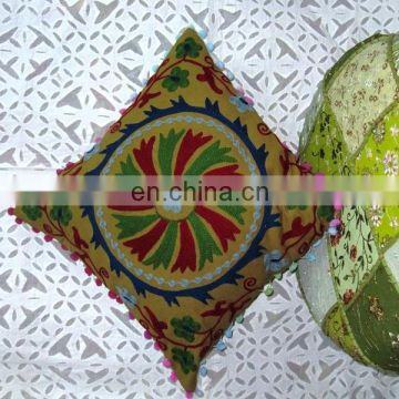 Suzani Hand Embroidey cushion covers floor cushion cases