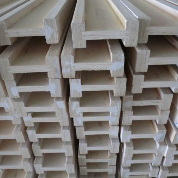 Construction wooden beam pine H20 /H16 timber I beam for
