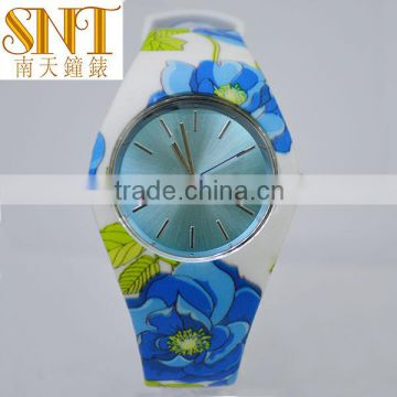 Chinese style antique watch flower strap silicone retro elegant women dress watch