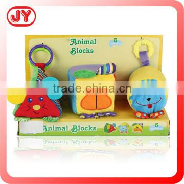 2014 Hot sale colorful plush baby toys stuffed blocks toys plush building blocks with EN71