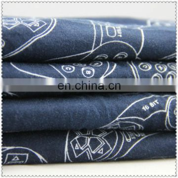 printed cheap price knitted 100 cotton fabric knit fabric