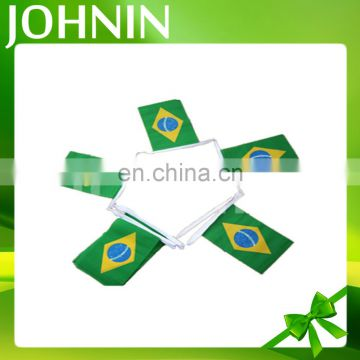 Gold sales decorative custom polyester Brazil triangle pennant string flag