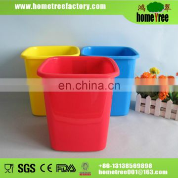 Hot sale color round plastic small dustbin without lid