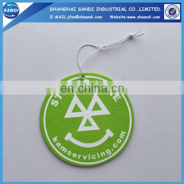 Cheap promotional paper air freshener car with logo