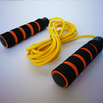 Green High Strength PVC Fitness Skipping Rope Absorbent Breathable
