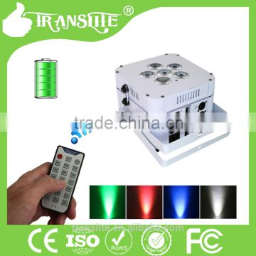 White Housing 6x15W rgbaw uv 6in1 wireless dmx battery powered led par mini laser projector