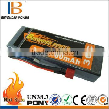Beyonder Power rc model airplane 6v 2.5ah 30C battery lipo battery pack for airplane/car/toy with high discharge rate 10C-60C