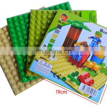 Wholesale Sand baseplate build on plastic building blocks toys 12*12 dots base plate Compatible with