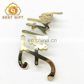 Customized Design Plating Gold Color Metal Nameplate