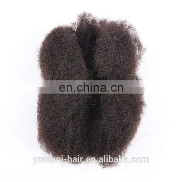 2016 Hot Selling Factory Price Wholesale 100% unprocessed 6a brazilian afro kinky bulk human hair