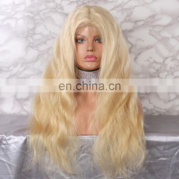 #613 #60 color body wave high density smoothly human hair lace front wig