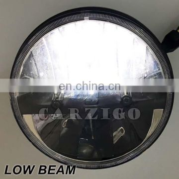 made in Guangzhou IP68 IP6K9K 30w round 7 inch LED headlamp with high beam low beam for jeep wrangler for land rover defender