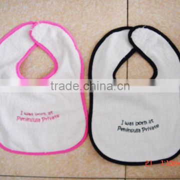 cotton baby bibs for infants & toddlers&children customized printing or emboridered logo available