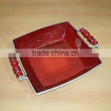 Serving Trays,Designer Metal Bowls With Handles,Fruit Bowls,Serving Bowls,Metal Bowls,Food Bowls,Table Decor