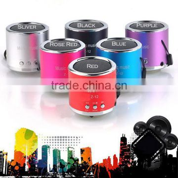 Cheapest price Shenzhen factory 3.5mm jack audio cable Mini portable speaker with fm radio