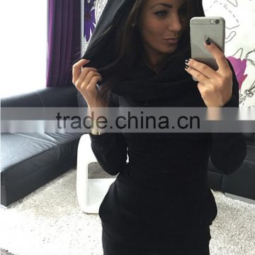NEW Autumn Womens Hooded Sweatshirt Long Sleeve Bodycon Hoodies casual Dress