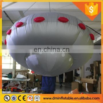 Hanging inflatable flying saucer for advertising