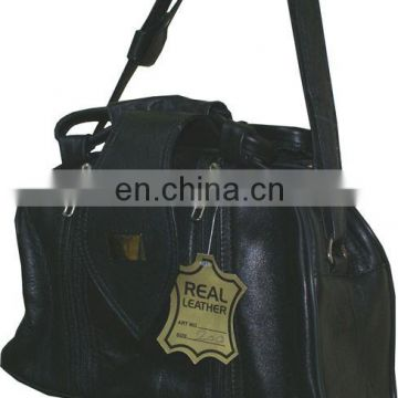 HMB-105A LEATHER WOMEN BAG BLACK
