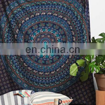 Indian Decor Mandala Tapestry Wall Hanging Hippie Bed sheet Beach Throw Blanket bedspread Tapestry Queen picnic Decor Wholesale