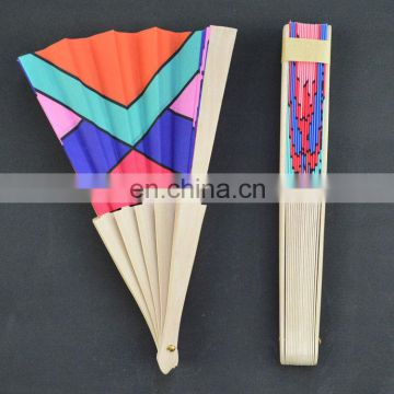 23cmL custom folding hot sale wooden hand fans