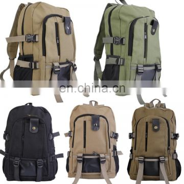 Men's Canvas Backpack Rucksack Laptop Shoulder Travel Hiking Camping Student Bag