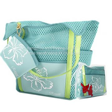 Convenient Waterproof Neoprene And Mesh Beach Bags With