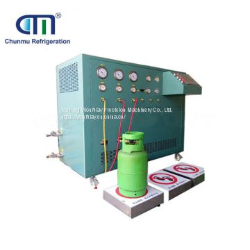 oil less multiple stage auto refrigerant recovery system for refrigerant ISO tank