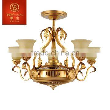 Wahson brand 54 3 blades golden luxury ceiling fan fzd 140 62f of wahson brand 54 3 blades golden luxury ceiling fan aloadofball Image collections