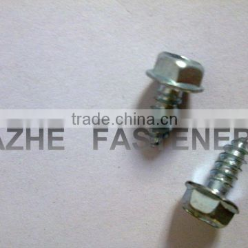 hex washer head nail screw blue zinc plated